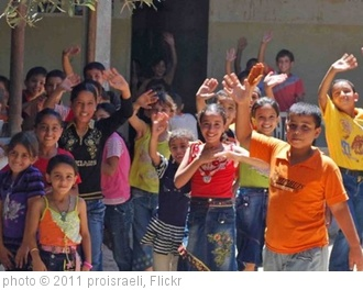 'Group of Children in Gaza waving goodbye' photo (c) 2011, proisraeli - license: http://creativecommons.org/licenses/by-sa/2.0/