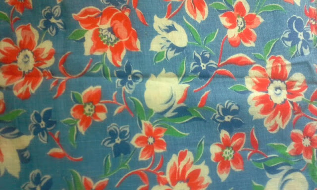 Flashback Summer:  1930s and 1940s Feedsack Print Fabric