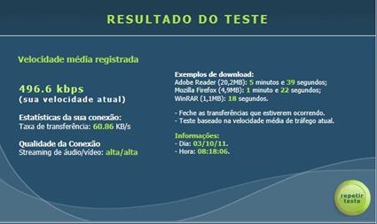 Teste de conexão RJnet