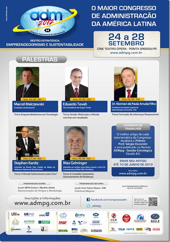 Cartaz ADM 2012 -  Palestras