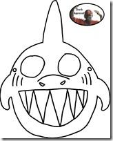 tiburón mascara