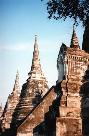 Obiective turistice Thailanda: temple Ayutthaya.
