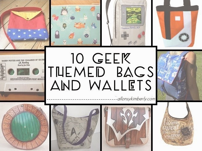 10 Geek Themed Bags and Wallets (Fangirl Fashions #30) | allonsykimberly.com