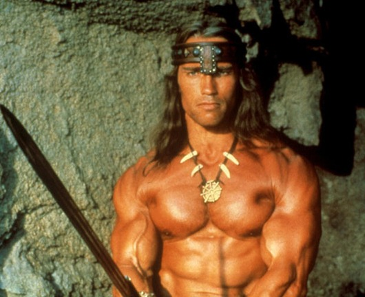 'CONAN THE BARBARIAN' FILM STILLS - 1982...No Merchandising. Editorial Use Only<br /> Mandatory Credit: Photo by Everett Collection / Rex Features ( 415401e )<br /> Arnold Schwarzenegger<br /> 'CONAN THE BARBARIAN' FILM STILLS - 1982<br /> <br />