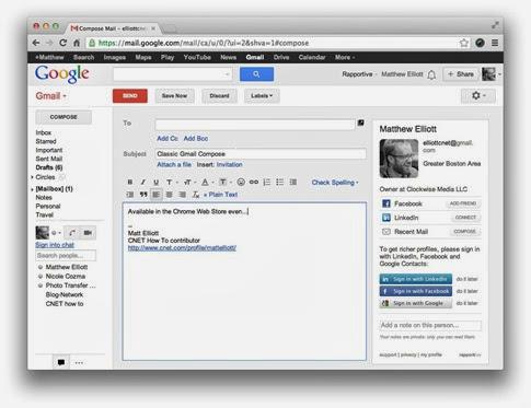 Diseño clásico de Gmail con Retro Compose