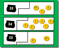 Pot of Gold Self Correcting Puzzle helps students with number combinations.