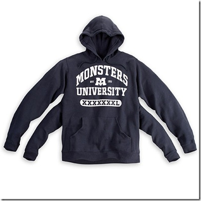 Monster University Official Clothing - Blue Hoodie with 4 arms