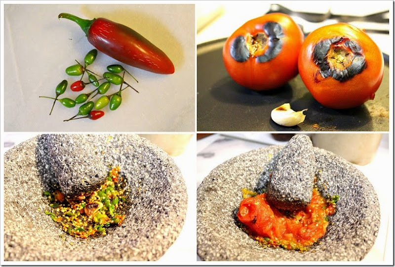 Salsa Molcajeteada with Bird Peppers | Instructions step by step