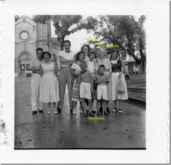 72 - Willis, Helenea, Elizabeth, Edwin and Sydney in Trinidad July 1952 - 3 Photoshopped and Labeled