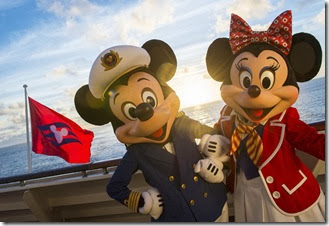 Disney Cruise Line Captain Mickey and First Mate Minnie on the Disney Magic photo(c)Disney Matt Stroshane photographer