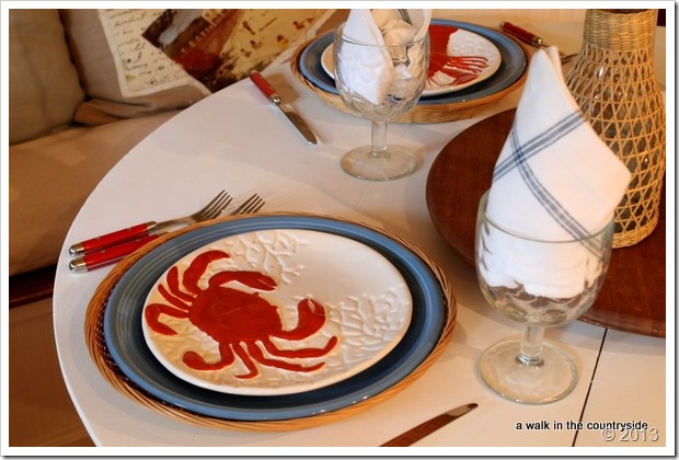 crab plates from World Market