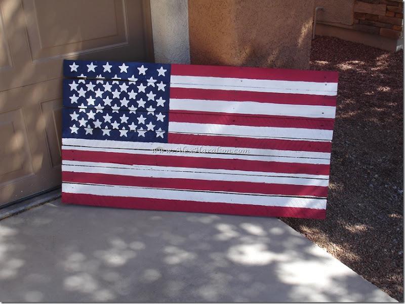 Pallet Wood American Flag15