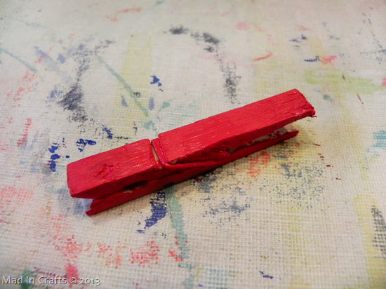 paint clothespin red