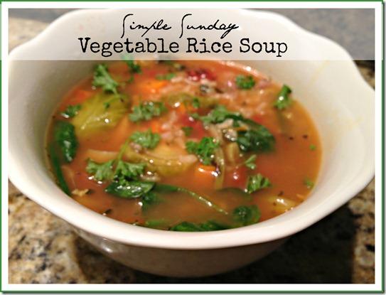 simple sunday veg soup