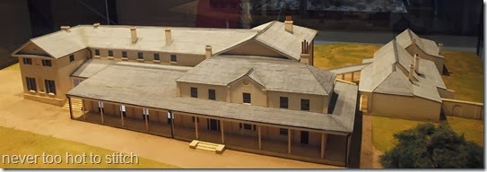 model of first government house before demoliton
