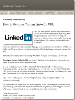 How to Get your Custom LinkedIn URL