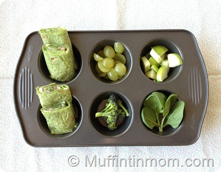 Green Muffin Tin Meal