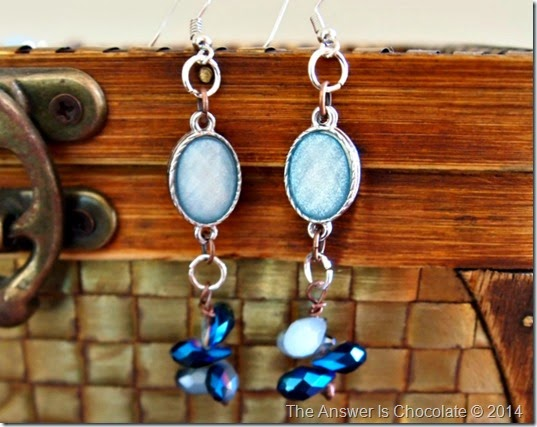 Blue Moon Blue and Copper Earrings