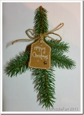 Fir branch Christmas place setting