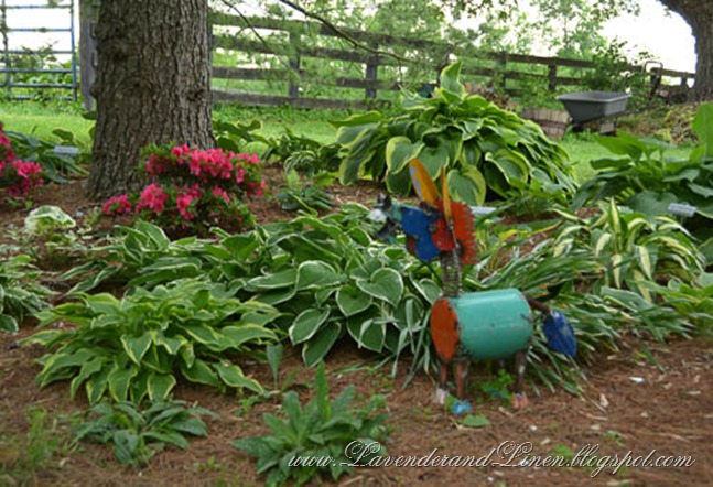Hosta Garden/with yard Art
