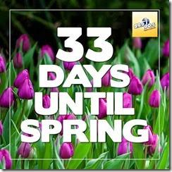 33 days till spring