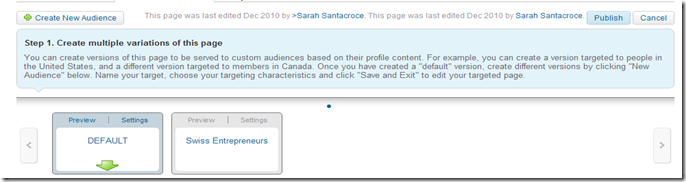 Linkedin Company pages Define Audience