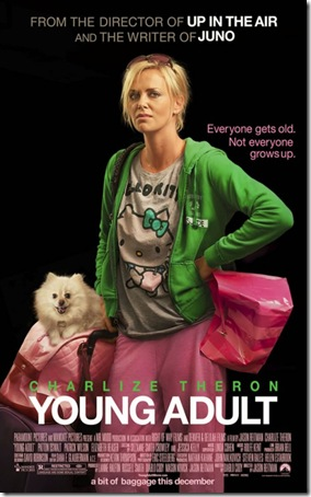 movie poster for Young Adult starring Charlize Theron