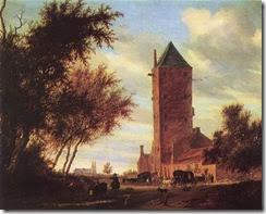 748px-Salomon_van_Ruysdael_-_Tower_at_the_Road_-_WGA20586