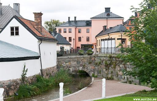 Kvarnbron med genomfarten och S:t Eriks gränd