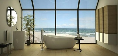 tub with amazing ocean view