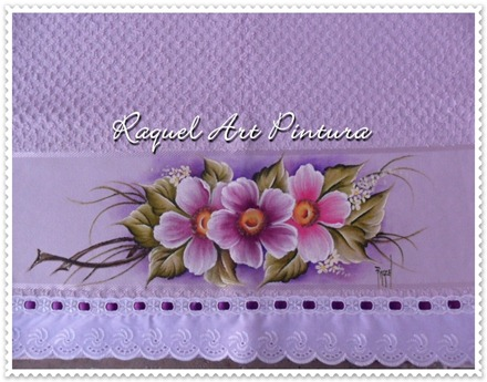 toalha rosto lilás