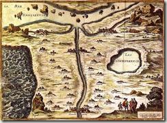 La carte du tendre de Mlle de Scudéry