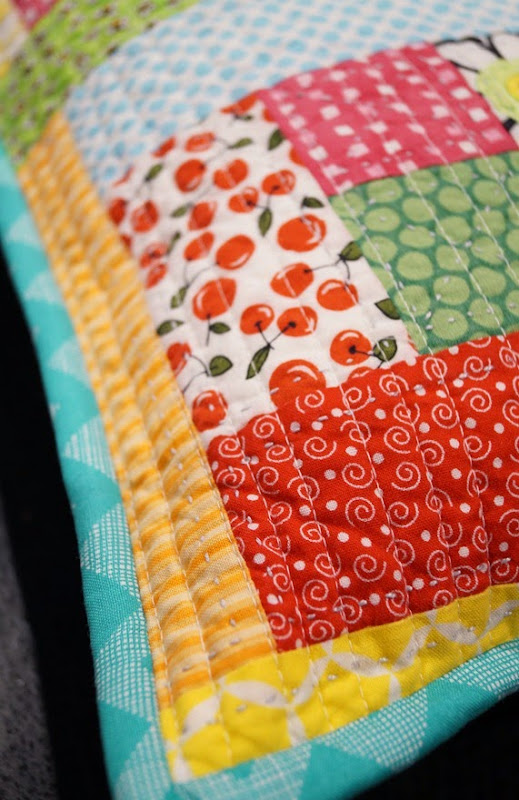 Scrappy Cushion Makeover - Quilting
