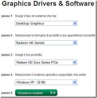 Scaricare driver AMD per la scheda video