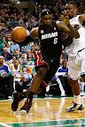 lebron james nba 130127 mia at bos 21 Boston Outlasts Miami in 2nd OT. LeBron Debuts Suede X PE!