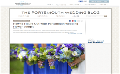 Portsmouth Wedding Flower Budget