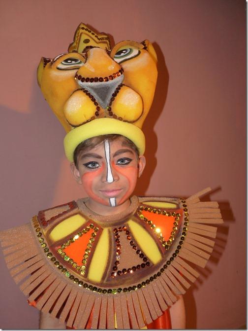 maquillaje simba rey leon