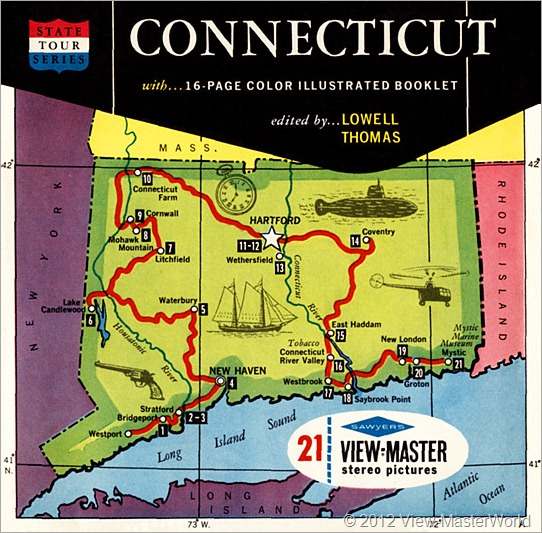 View-Master packet cover Connecticut (A750)