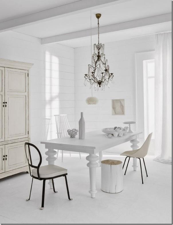 uso del colore bianco case e interni On case interni bianchi