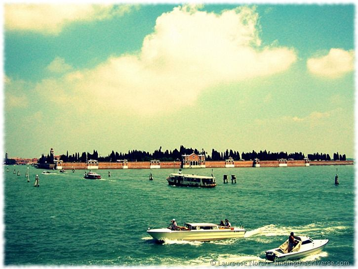 Venetian waterways and boats on lagoon