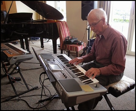 Guest artist, John Perkin, gave us a mini-concert of about 25 minutes using the Korg Pa900. Photo courtesy of Dennis Lyons
