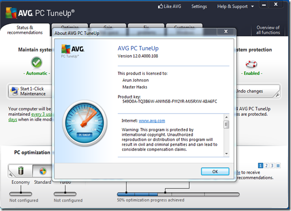 AVG PC TUNEUP 2014 V13.FULL VERSION WITH SERIAL KEY AND PATCH/CRACK