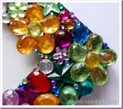 Jewelled picture photo frame made