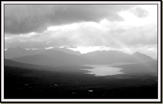 Blackwater Reservoir and the Glencoe mountains, from the south ridge of Beinn Pharlagain