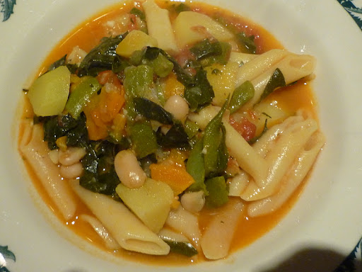 And a delicious bowl of pasta for dinner-it's Meatless Monday.