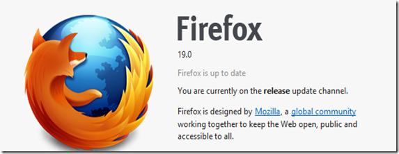 Firefox 19 Update