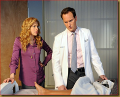 Rachelle Lefevre as Dr. Kate Sykora, and Patrick Wilson.