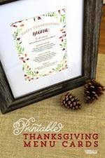 Elegance and Enchantment - Thanksgiving Menu Cards