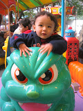 Eidan on the Godzilla Ride at Ueno Park