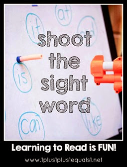 Shoot the Sight Word with a Nerf Gun!  Great Word Fun for Kids!